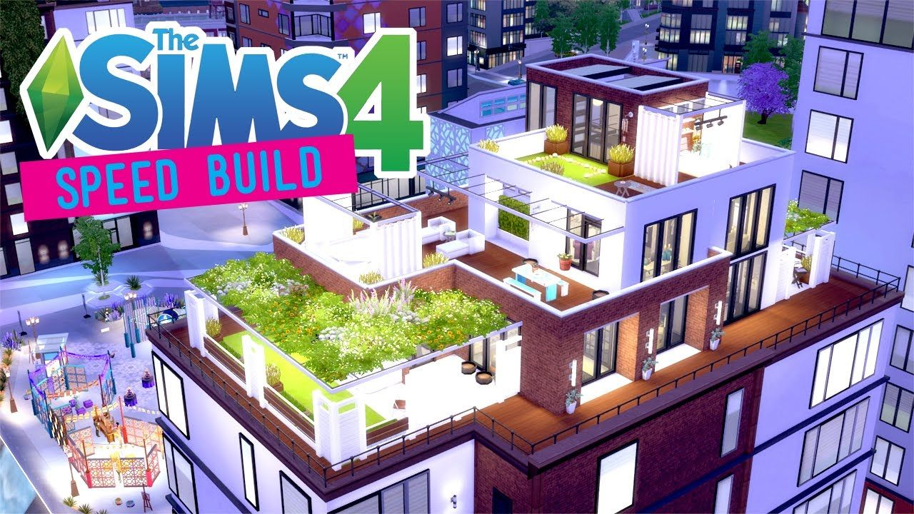 The Sims 4 -Speed Build- Bohemian Penthouse - No CC ...