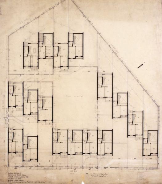 Planimetria dell 39 isolato di insulae compreso tra le vie for Design della comunicazione universita