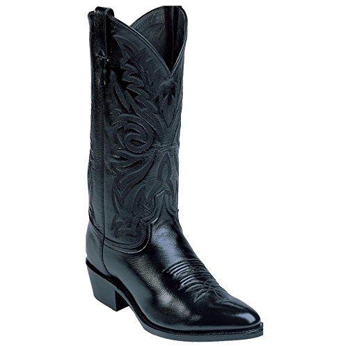 Justin Mens Corona Cowboy Boot Pointed Toe Black 75 Dm Us