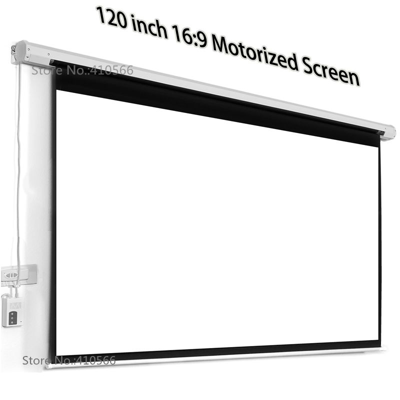 Professional Factory Supply 120 Inch Motorized Screen 16 9 Wide Matt White Projector Electric Screens For Office Cinema R With Images Electric Screen Cinema Room Projector