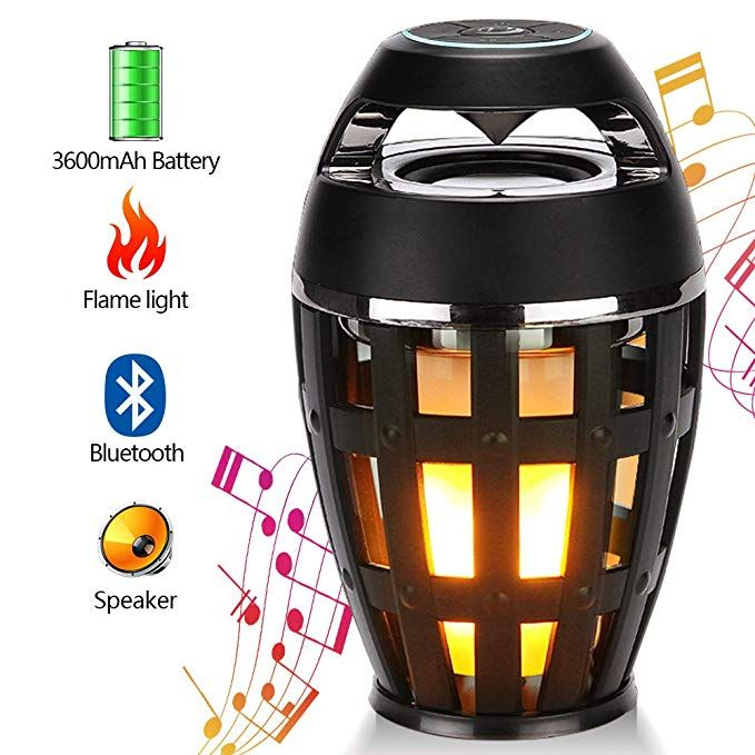 Ksera Flame Lamp Speaker, Led Flame Lamp Bluetooth Speaker