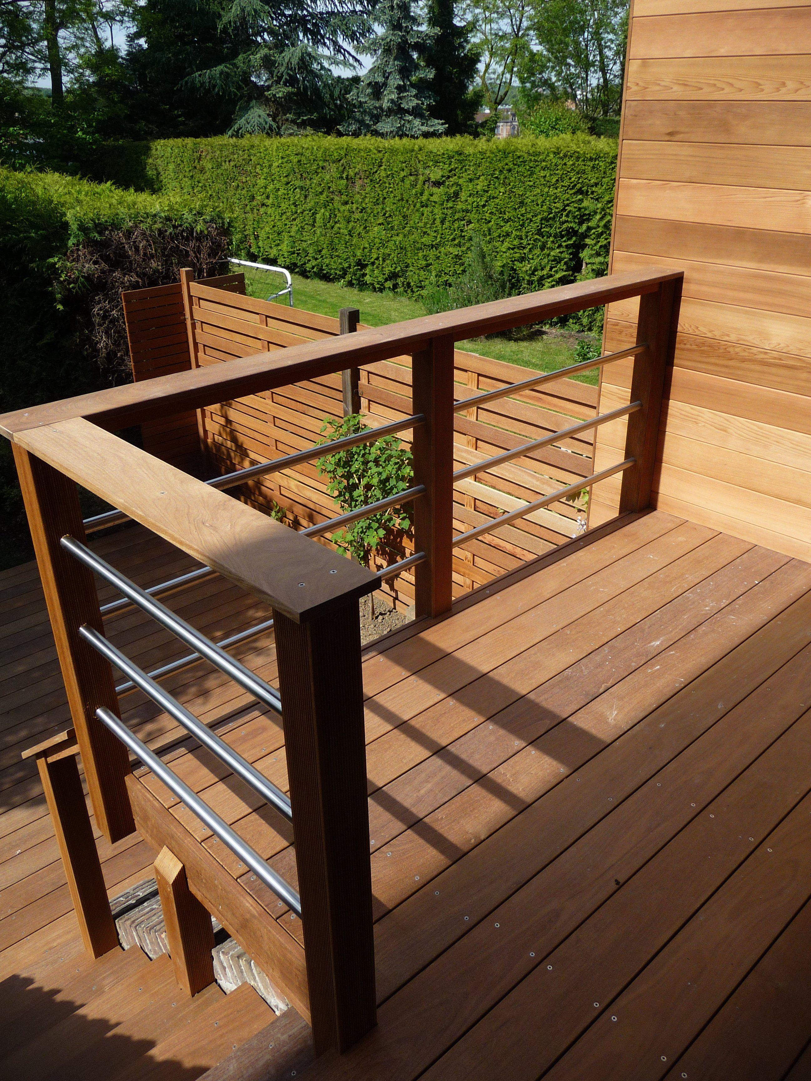 Terrasse Bois Et Fer terrasses suspendues   les sens du bois   terrasse suspendue
