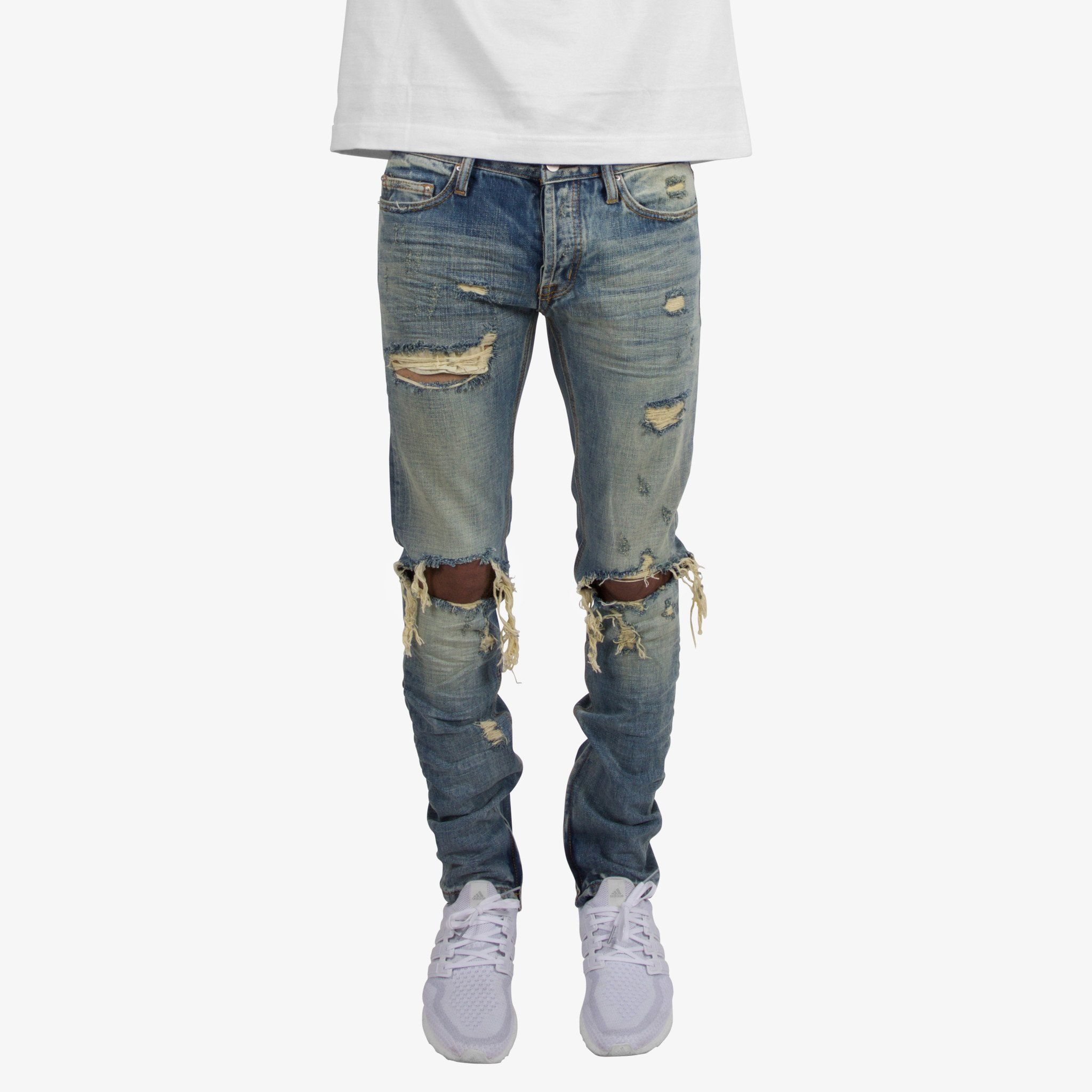 OCD Cleaners The RRL Dad Jeans in Light Blue Denim