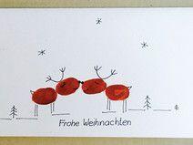 """Weihnachtskarte Rentier """"Frohe Weihnachten""""   – Kids"""