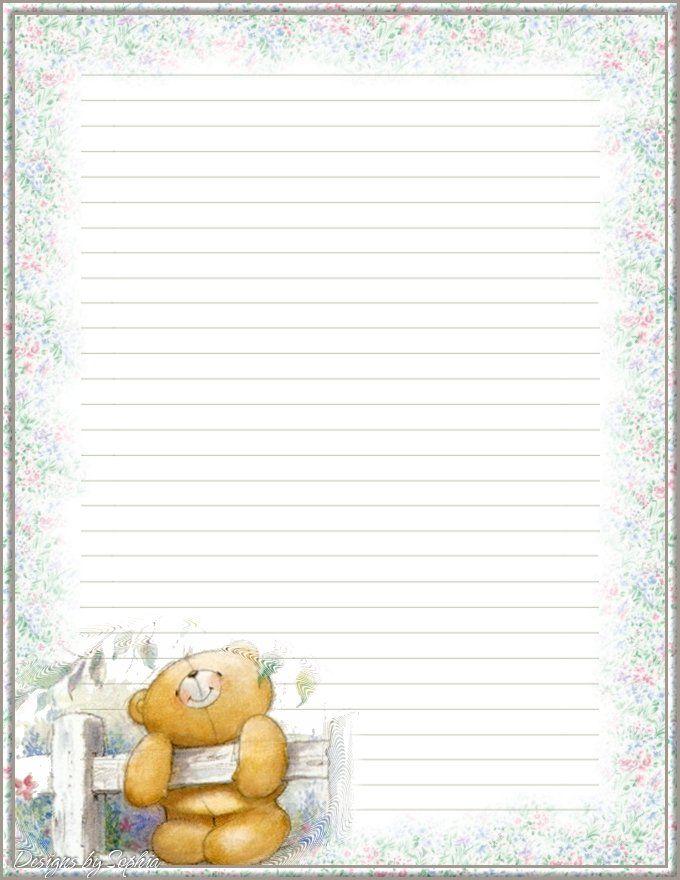 Teddy Bear And Frames Borders