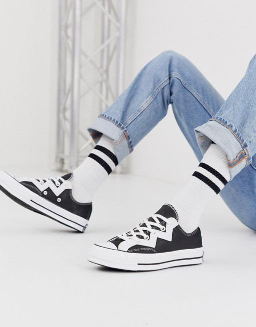 Converse black Zig Zag Chuck 70 Lo leather voltage trainers ...