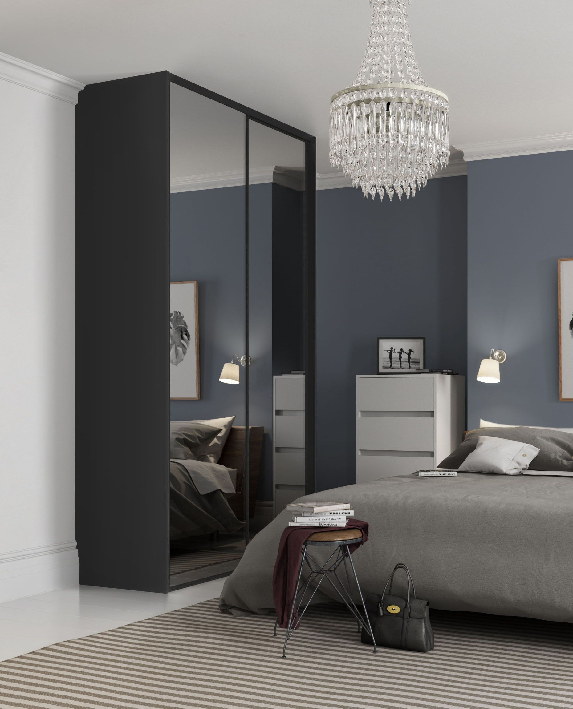 Excellent Bedroom Cupboard Design : Striking Modular Bedroom ...