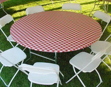 Kwik Cover 72 Rw 72 Round Kwik Cover Red Gingham Fitted Table
