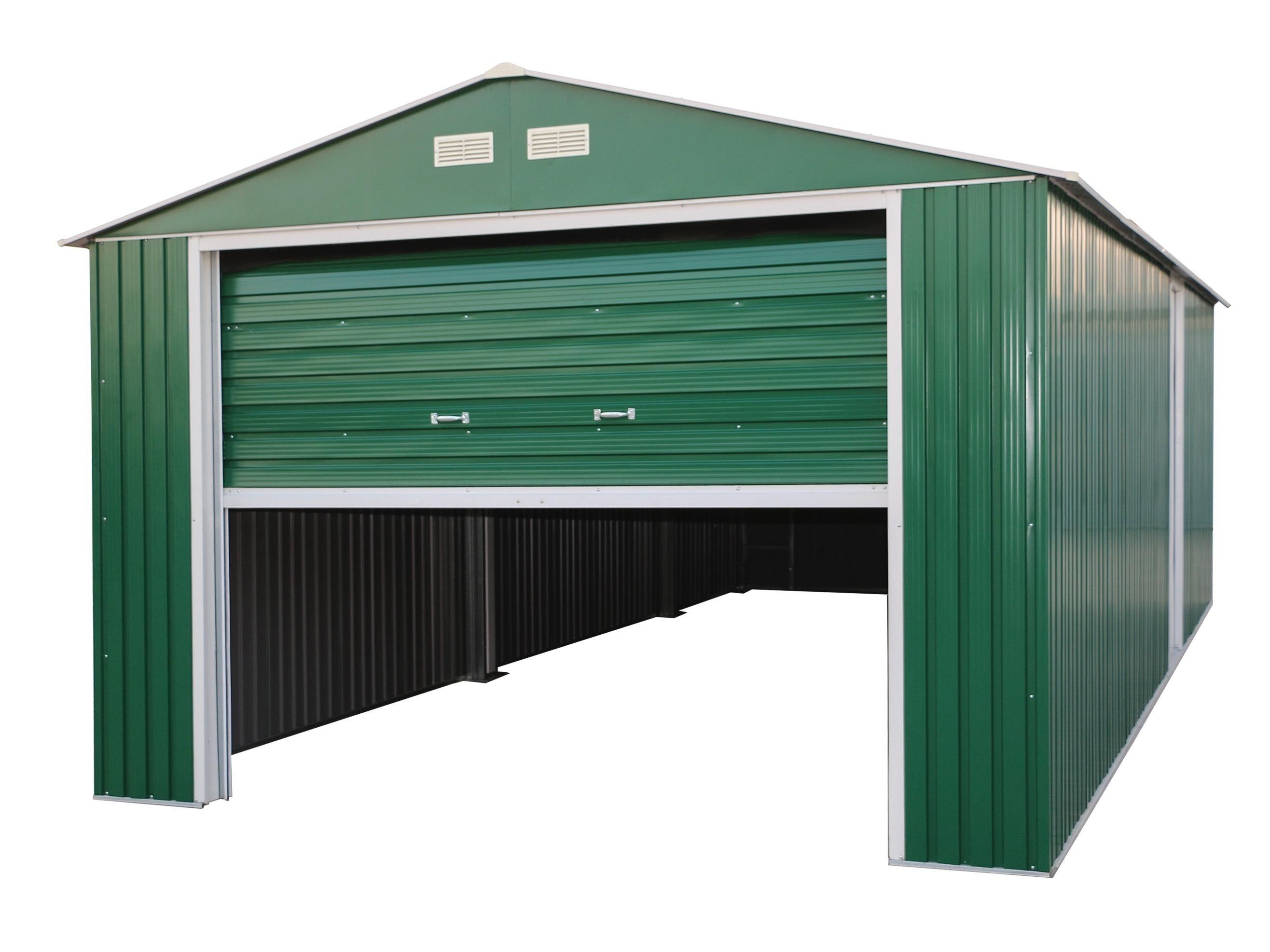 Duramax Olympian 12x38 Apex Roof Metal Garage Metal Garages Rubbermaid Storage Shed Metal Storage Garage