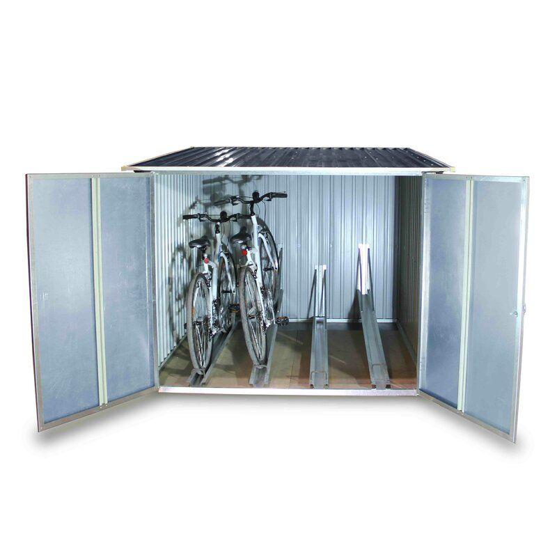 6 Ft 3 In W X 6 Ft 4 In D Metal Lean To Bike Shed Bike Shed Bicycle Storage Shed Bicycle Storage