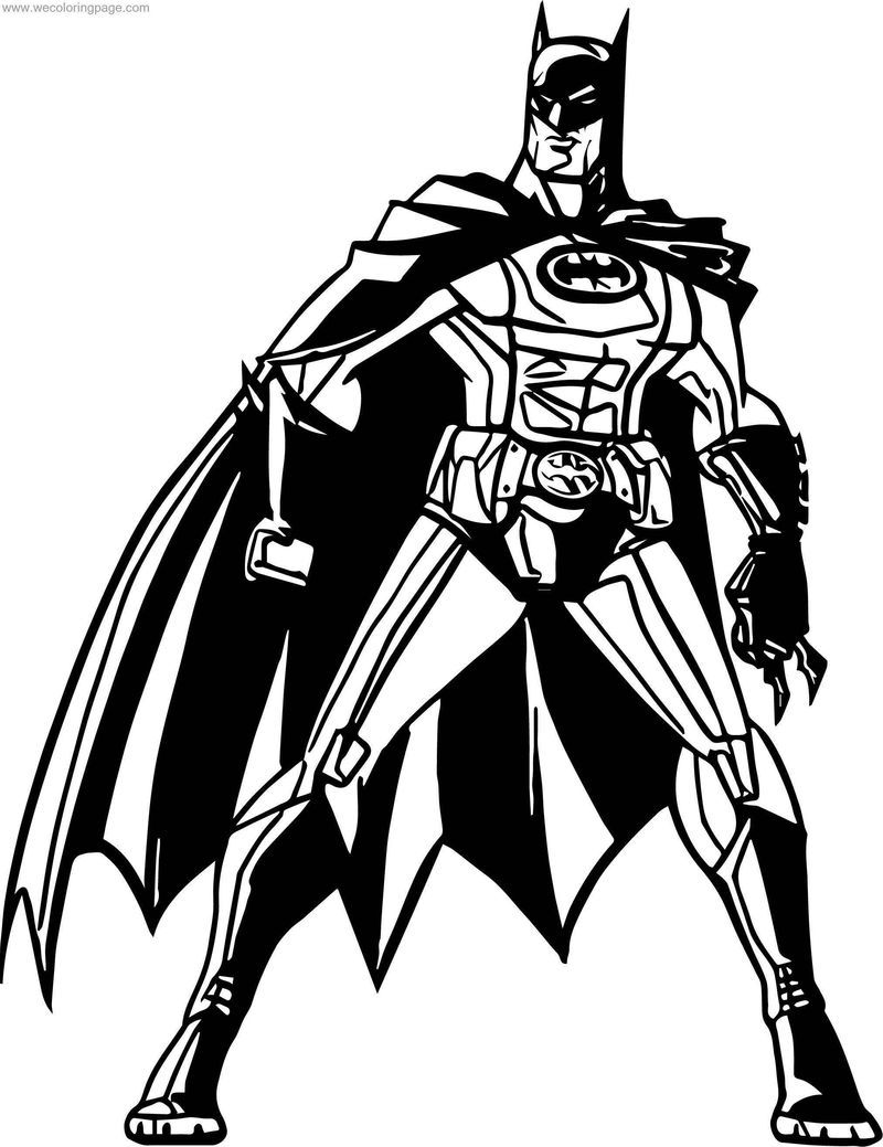How Batman Coloring Page