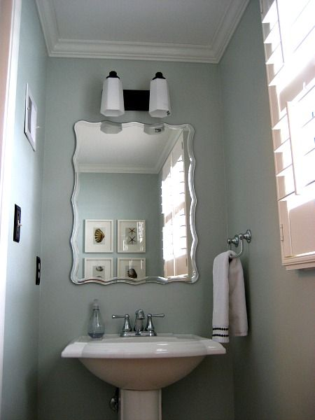 Installing Crown Molding In Small Half Bath Small Half Baths Door And Trim Paint Simple Bathroom Decor