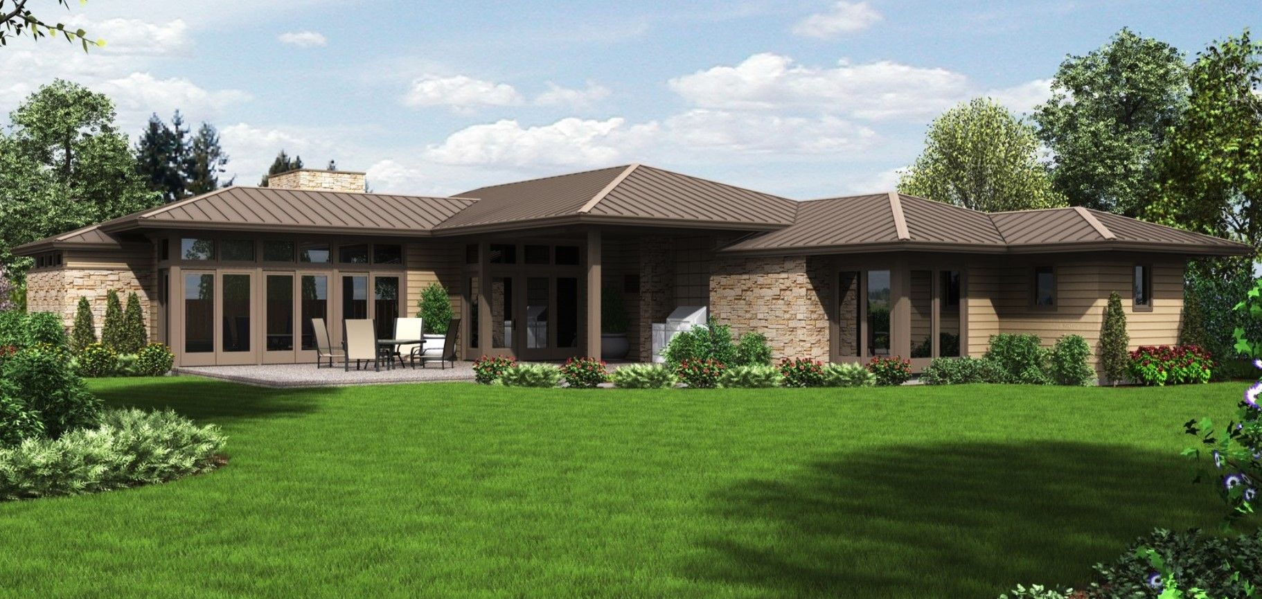 Contemporary Prairie Style Ranch By Alan Mascord The Houston Plan 1246 Ranch House Plans Ranch House Designs Ranch House