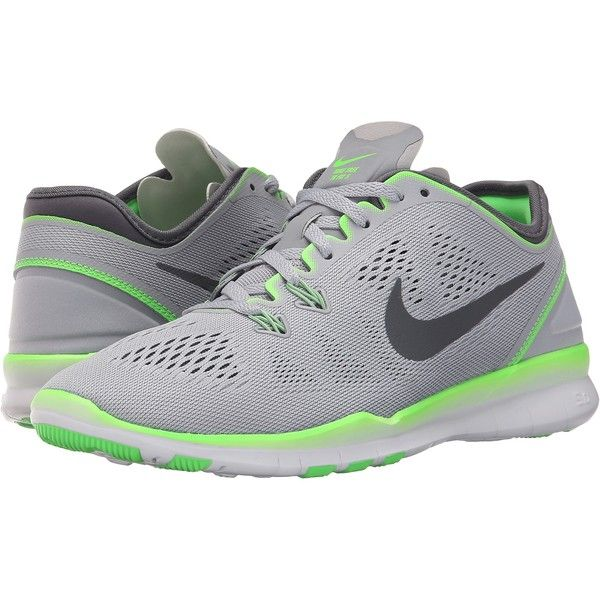 Womens Shoes Nike Free 5.0 TR Fit 5 Wolf Grey/Voltage Green/Dark Grey
