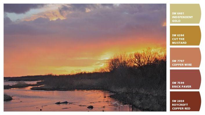 Paint colors from Chip It! by Sherwin-Williams   Bernadette K   Sunset, Martin, Nebraska