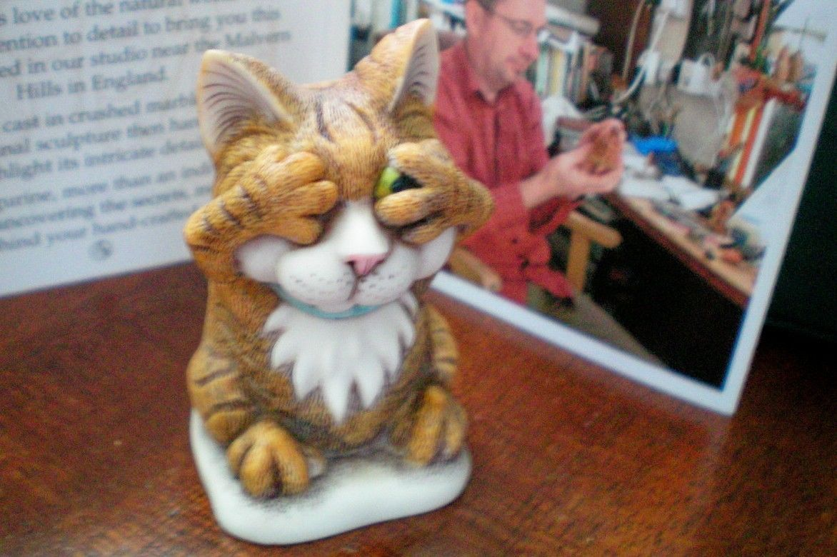Harmony Kingdom Peeping Tom Cat UK Made Artist Signed NEW | eBay