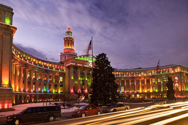 Denver S City And County Building During The Holidays A Winter In Http
