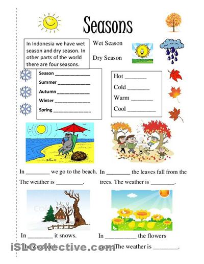 season worksheet free esl printable worksheets made by teachers 4 seasons pinterest. Black Bedroom Furniture Sets. Home Design Ideas