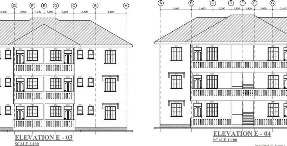 Best 2 bedroom 2 units 3 story House Plan in Kenya