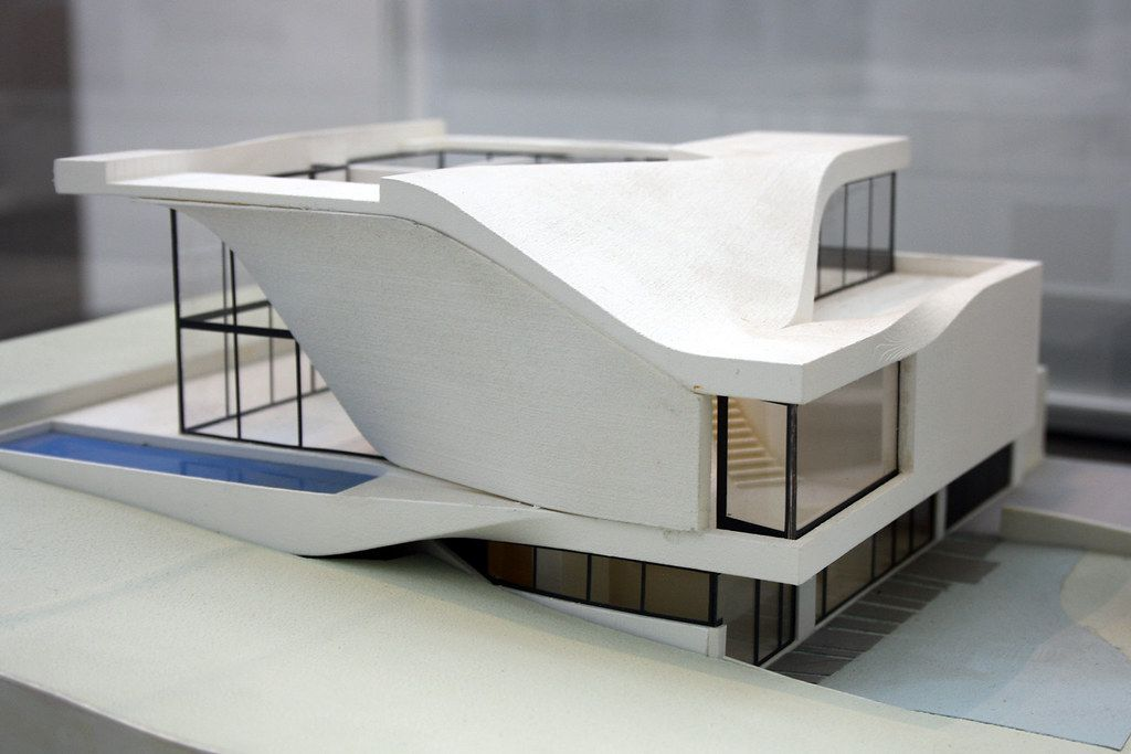 Model of Haus am Weinberg, Stuttgart, by UNStudio Ben van … | Flickr
