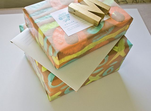bright packages by Meg Gleason, via Flickr