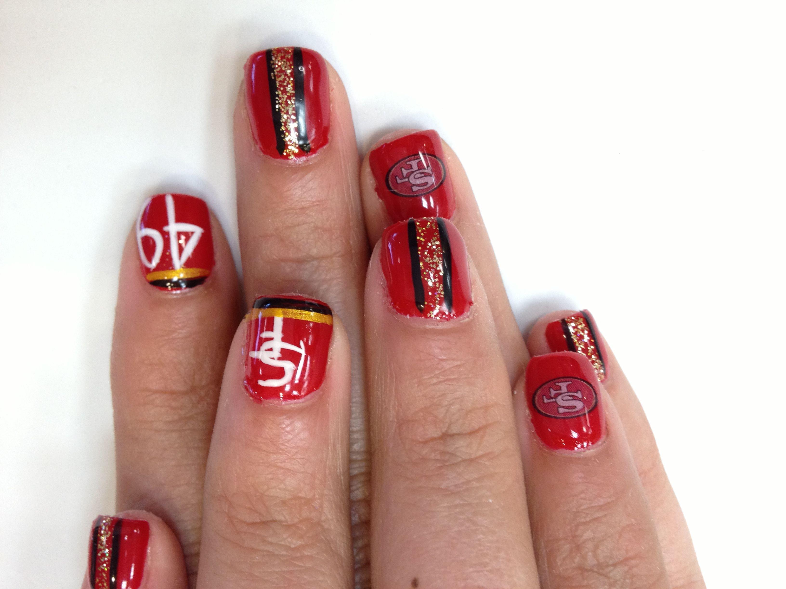 Sf 49ers Hair And Nails Nail Designs Nails