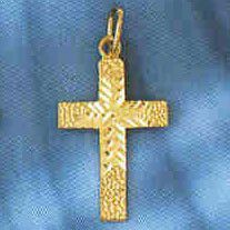 14K GOLD RELIGIOUS CHARM - SMALL CROSS #8318