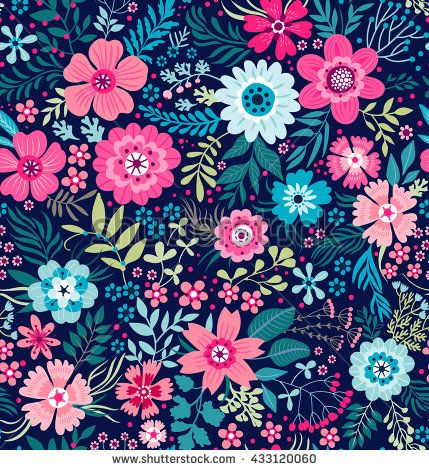 cute pattern in small flower small colorful flowers