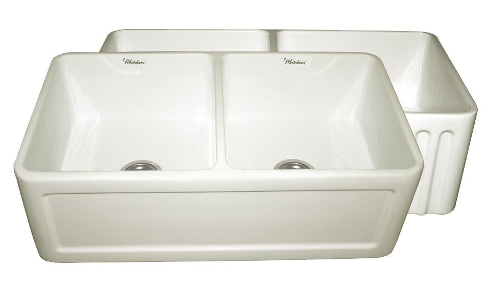 33 Fireclay Farmhouse Sink Double Bowl Reversible Concave Or