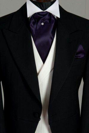 Black Wedding Suit With Purple Cravatwhite Waistcoat The Gold Planner IPhone App