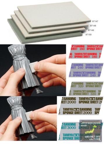 Details About Tamiya 5mm Sanding Sponge Sheet Grit Size 180 3000 Free Shipping From Japan Sanding Sponges Sanding Sponge