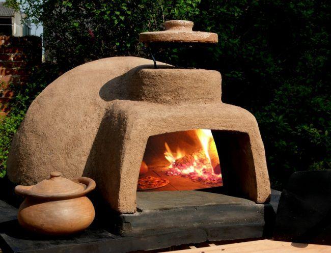 Pizzaofen Garten Selber Bauen Feuer Kohle Krug Pizza