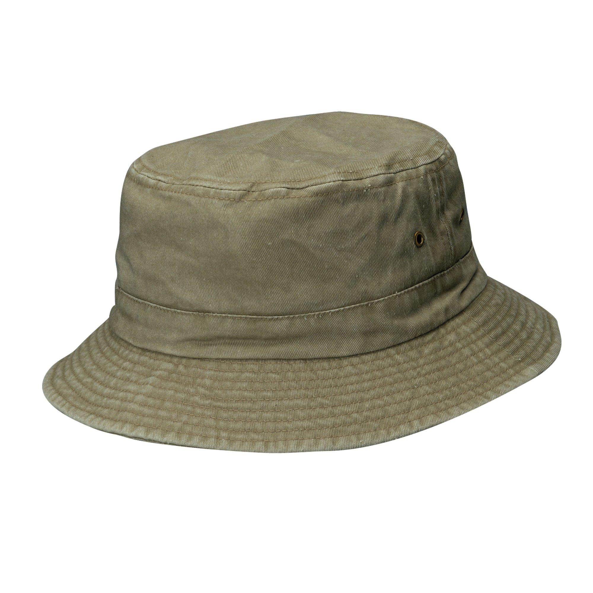 Dorfman Pacific Hats Cotton Bucket Hat Camouflage