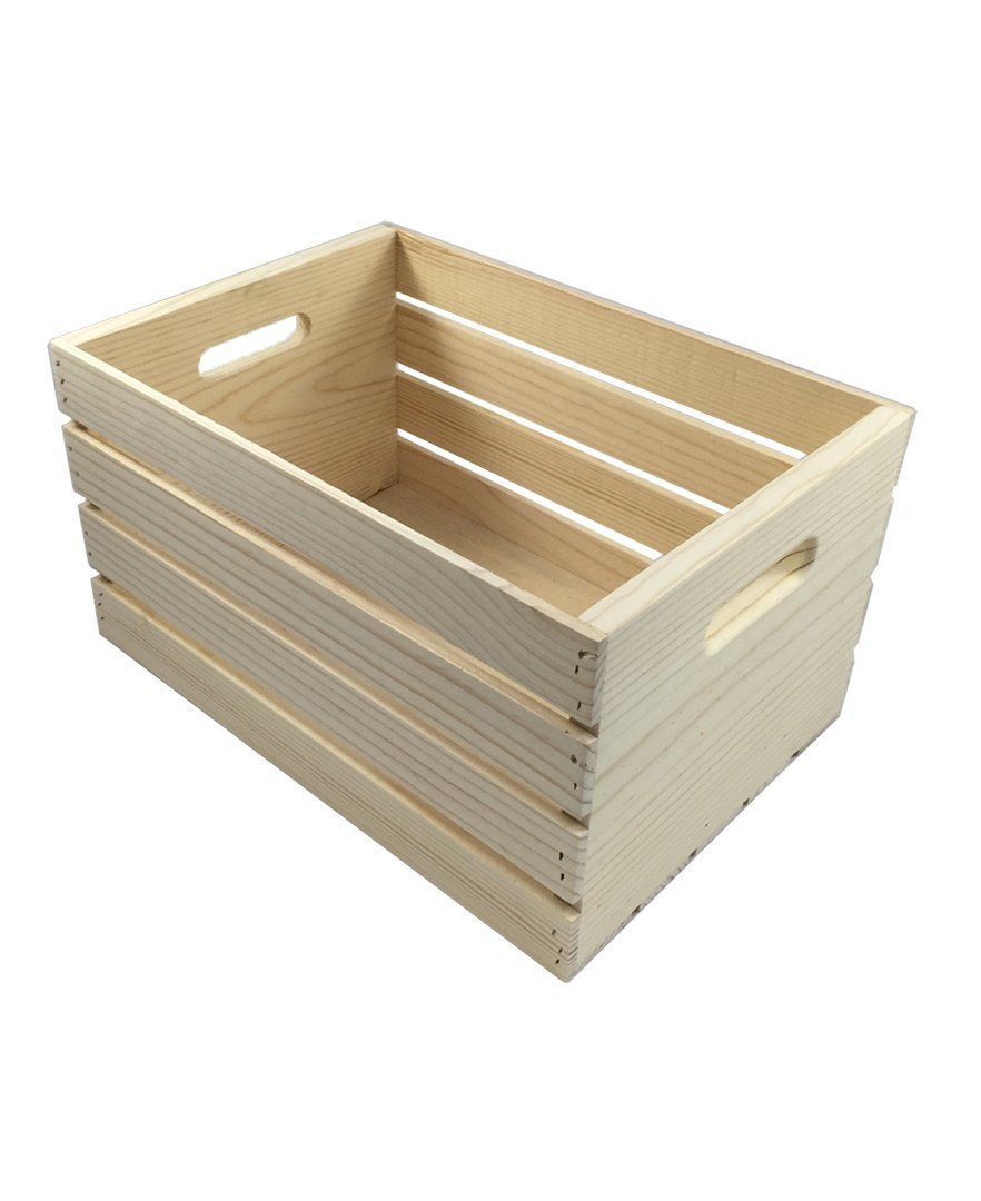 Crates And Pallet Large Wood Crate 18in X 12 5in X 9 5in By Candysweet Wood Crates Wooden Crates For Sale Crates For Sale