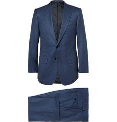 LutwycheNavy Puppytooth Super 170s Wool Suit