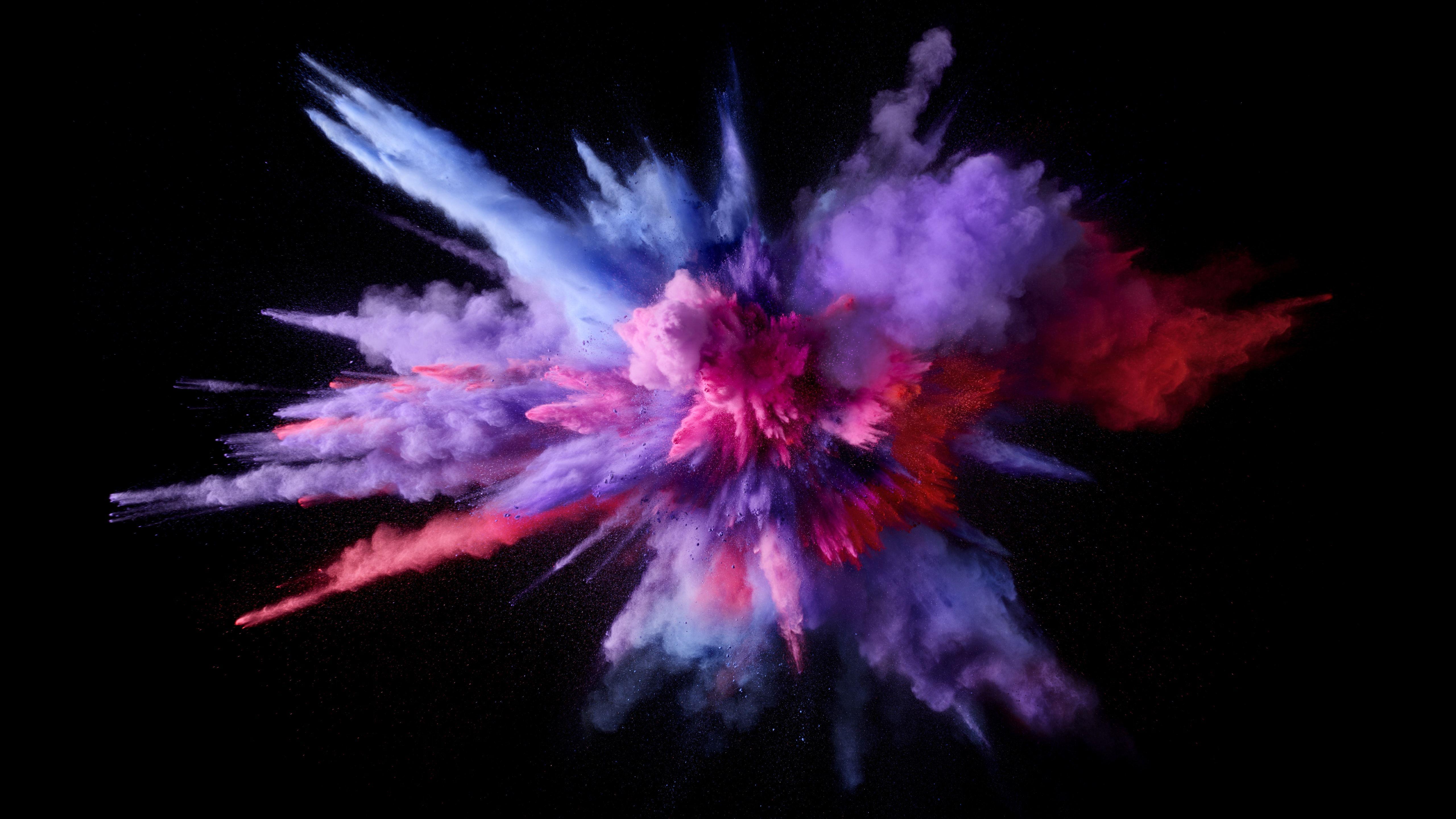 Mac Os Sierra Color Splash Purple Explosion Colors 5k Is An HD Desktop Wallpaper Posted In Our Free