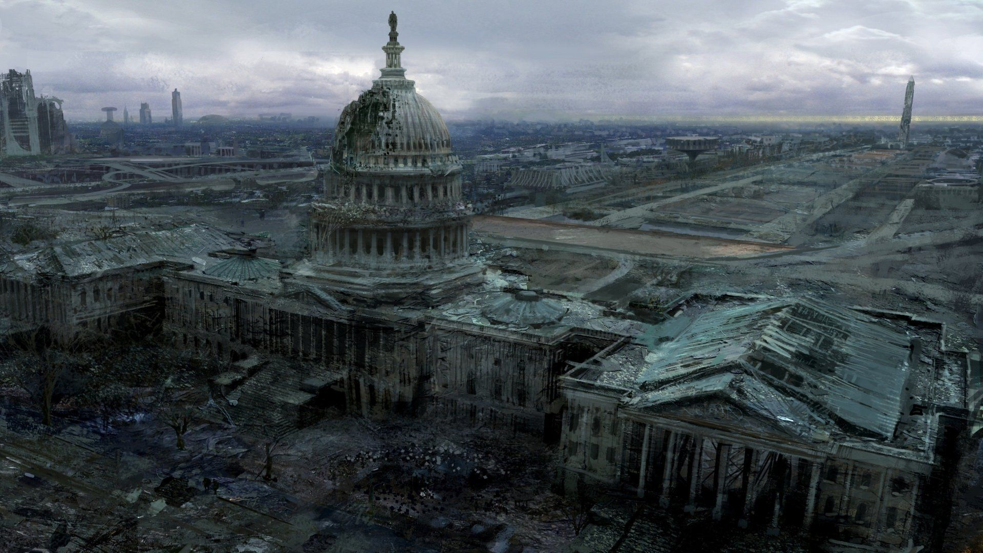 Video Game Fallout 3 Fallout Capitol Post Apocalyptic Wallpaper Collapse Of America Post Apocalypse Apocalyptic