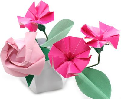 From paper with love the cool pinterest origami diagram and how to make origami flowers simple origami flower design beautiful origami flower design pictures mightylinksfo