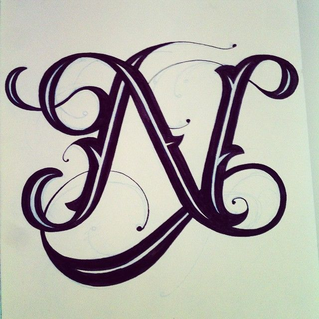 clemover n letter tattoo 39 s pinterest calligraphy monogram alphabet and sketches. Black Bedroom Furniture Sets. Home Design Ideas