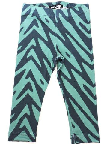 'Blue Palm' Printed Legging
