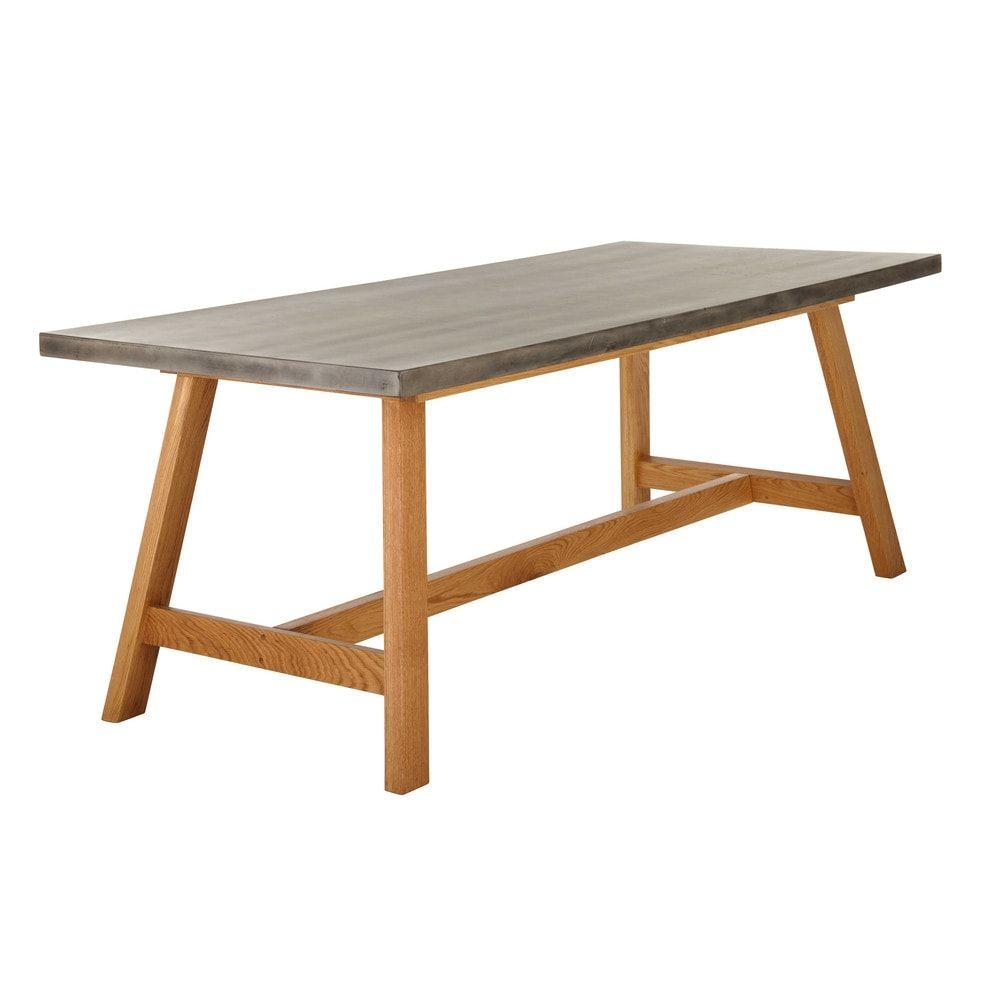 Tavolo In Cemento Da Giardino.Tavolo Da Giardino Effetto Cemento 8 10 Persone Terrazzo Table