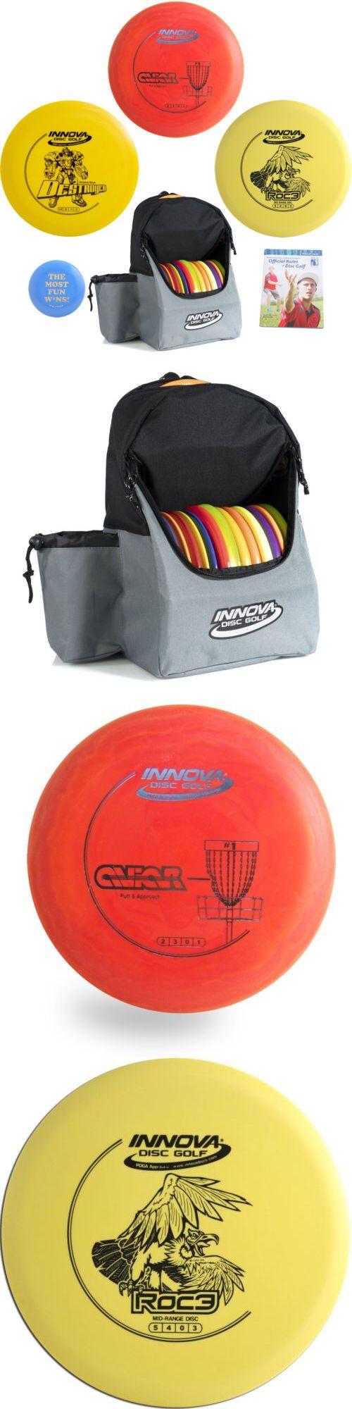 Disc Golf Sets 184358 Complete Advanced Gift Set Innova Backpack Bag
