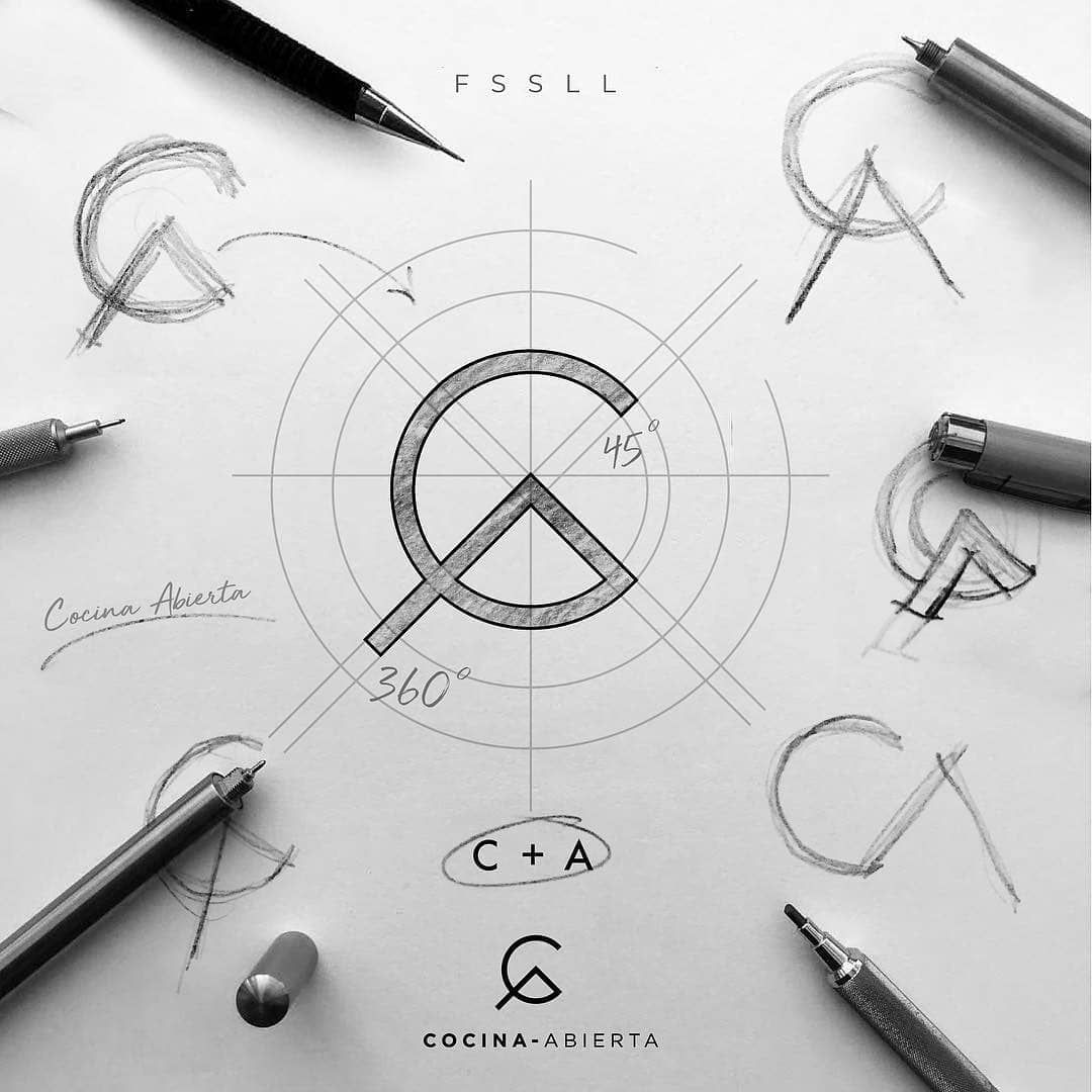 Logo On Instagram Logo Process For Cocina Abierta Branding