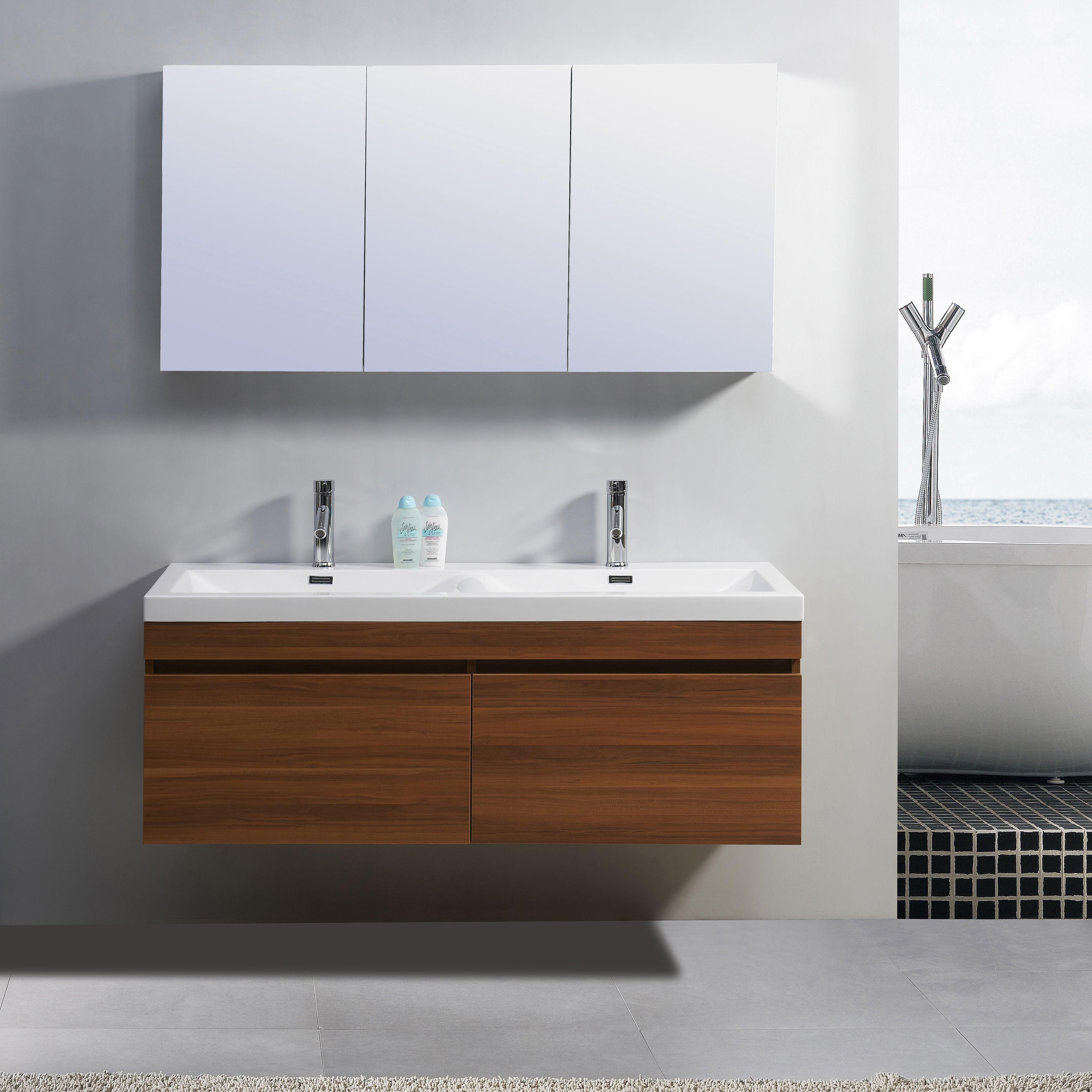 Virtu USA Zuri Inch Double Sink Vanity By VIRTU USA - 55 inch double sink bathroom vanity for bathroom decor ideas