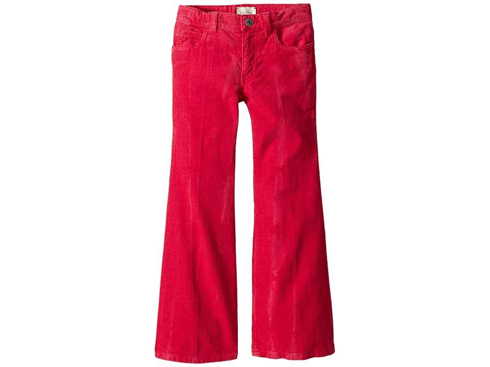 26884ed4276 Gucci Kids Corduroy Flared Pants (Little Kids Big Kids) (Bright Magenta)