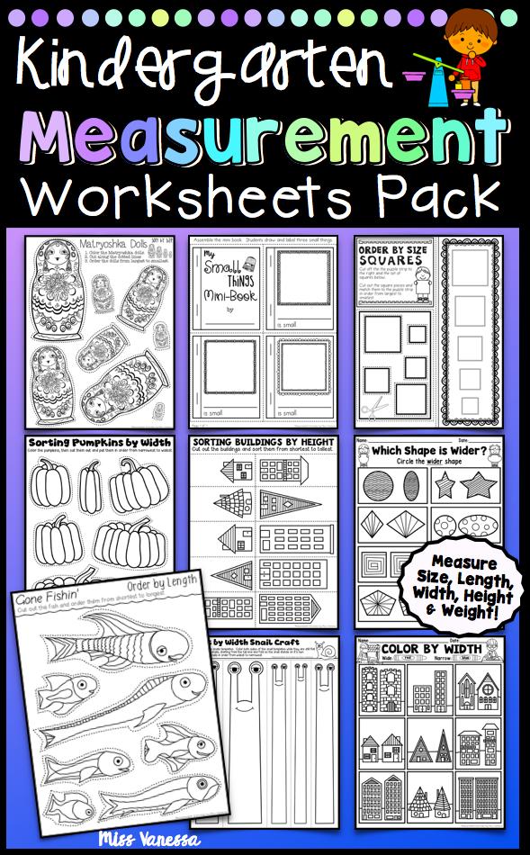 Kindergarten Measurement Worksheets Matematica Pinterest