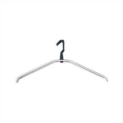 Peter Pepper Self Aligning Natural Anodized Aluminum Coat Hanger With Black Hook In 2020 Hanger