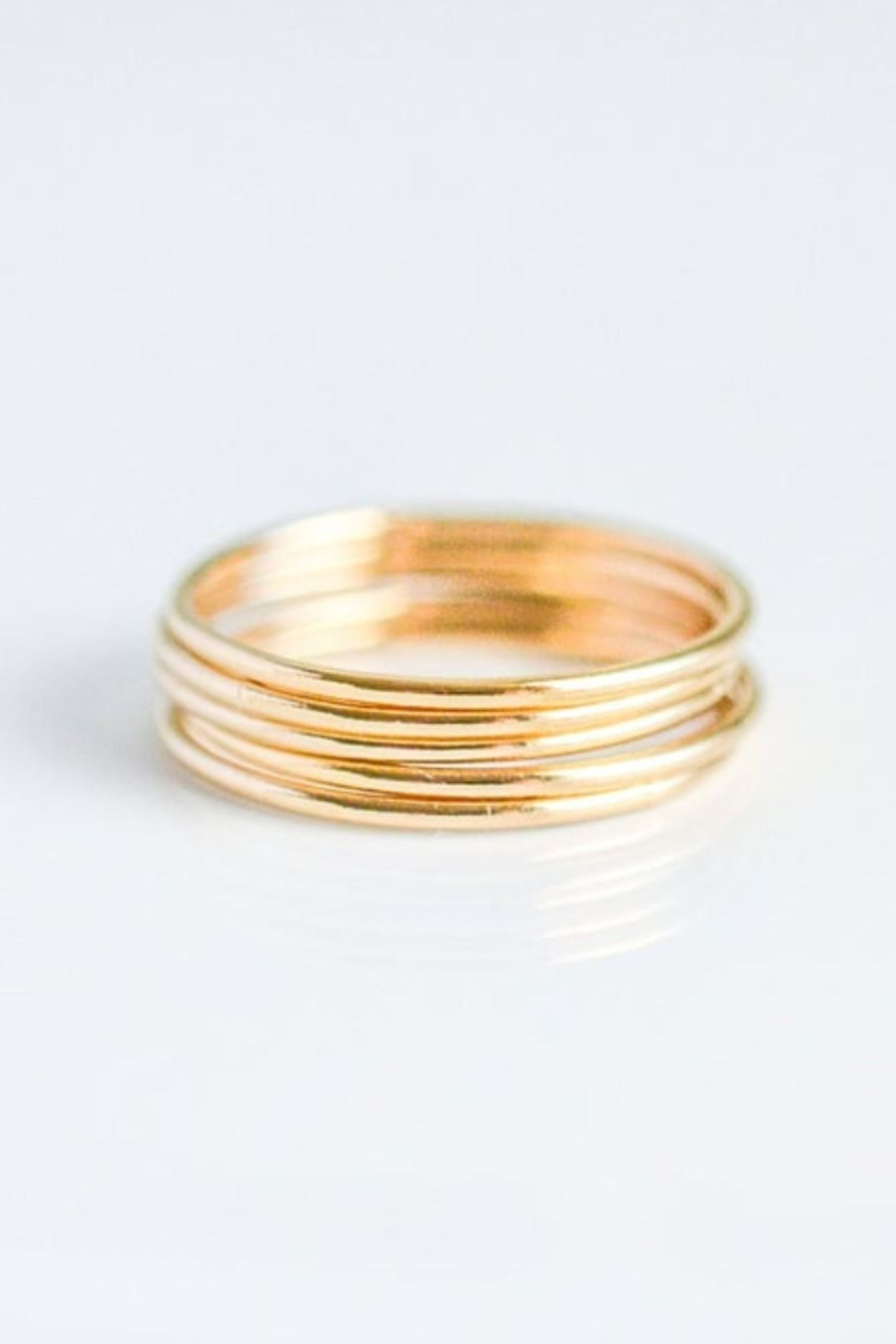 14k Gold Filled Stacking Ring Set For Women Minimalist Goldfilled Stackable Ring Simple Smooth Dainty Stack Ring Size 5 6 7 8 9 10 In 2020 Rose Gold Stacking Ring Stacking Ring Set Thin Band Ring
