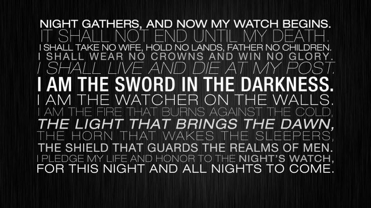 Light Honor Walls Night Guards Father Game Of Thrones Death Live Custom Death Quote Wallp