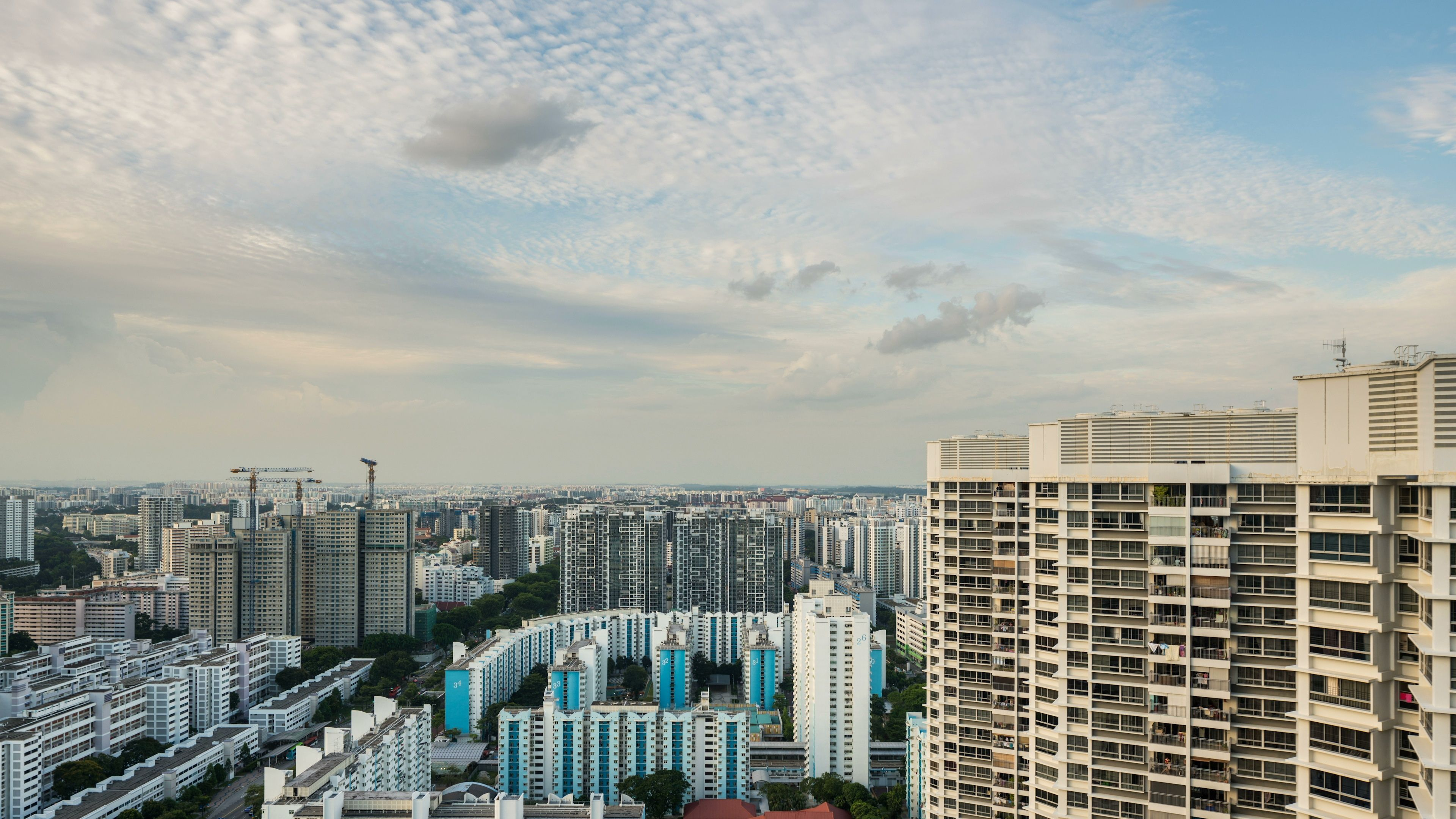 4K day timelapse of residential district in Singapore Stock Footage resid